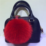 Fashion Fox Fur Ball Keychain Fur POM POM Bag Charm