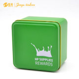 Cookie Tin Containers Square Shaped Tin Can