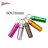 Promotion Gift Pill Case Aluminum 60X16mm Multi Color