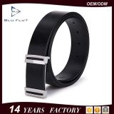 Casual Fashion Design Buckle Reversible Black Leather Man Belts