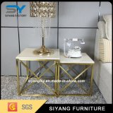 Luxury Stainless Steel Golden Painting Small Coffee Table