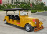 Yellow 8 Seaters Electric Classic Car
