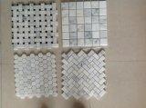 Starry White Star White Chinese White Marble Mosaic Floor Tile