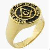 18k Plated Gold Fashion Masonic Ring