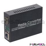 Gigabit Ethernet Fiber Media Converter with One LC/Sc SFP Slot
