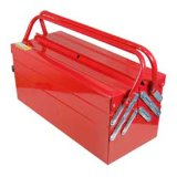 Metal Tool Box 5 Trays with Cantilever for Tool Storage