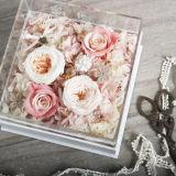 2017 Newest Elegant Clear Rectangle Gift Acrylic Flower Box