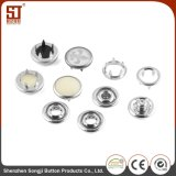 Jacket Color Matching Round Metal Prong Snap Button
