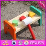 2016 New Design Baby Toy Wooden Pounding Bench W11g026