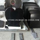 Cheap Price Black Granite Stone Grave Memorial Headstone with Heart