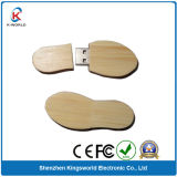Wood Foot Shape USB Flash Disk