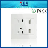 3 Pin and 2 Pin USB Wall Socket for USA Market