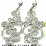 Flower Shape Beautiful Design 925 Silver Earring