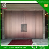 201 304 Metal Door Embossing Decorative Stainless Steel Door Gate in Very Cheap Price