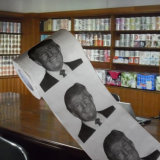 Donald Trump Printed Toilet Paper Roll Customized Bathroom Tissue