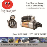 Tractor Starter Motor with Carbon Brushes in Stock (QDJ1508F)