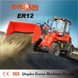 Everun CE Marked Articulated 1.2 Ton Mini Wheel Loader