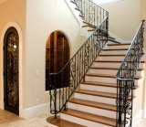 Hand-Made Wrought Iron Staircase Railing