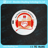 Round Card USB Flash Drive with Both Sides Printing