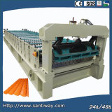 Glazed Steel Roof Tile Cold Roll Forming Machine