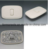 1 Gang 2 Way ABS Ivory Light Wall Switch for Brazil