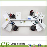 White Stylish Office Partition for Staff