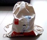 Printed Cotton Drawstring Canvas Backpack Bag