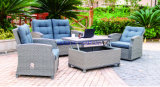 Wicker Sofa Outdoor Rattan Furniture Chair Table Wicker Furniture Rattan Furniture for Outdoor Furniture with Sofa Set (Hz-BT099)
