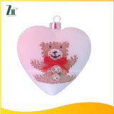 Christmas Glass Heart Shaped for Wedding Decoration