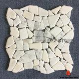 Oriental White Irregular Shape Marble Mosaics