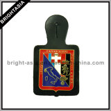 Custom Fashion Leather Holder with Metal Badge (BYH-10865)