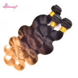 Ombre Hair Three Tone Color Malaysian Remy Human Hair