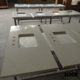 Hot Sale Solid Surface Artificial Stone Customized Bathroom Vanity Tops