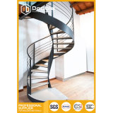 Modern Design Steel Spiral Staircase with Carbon Steel Railing