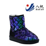 Fashion Sequin Upper Women′s Snow Boots Bf1610222