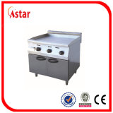 Free Standing Gas Griddle with Cabinet, Stainless Steel Commercial Kitchen Equipment with Three Temperature Controll