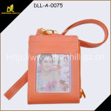 New Design Lady PU Leather Neck Wallet Women′s Mini Travel Purse