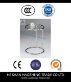 Hzct083 Jeff Chrome Metal 5mm Clear Tempered Glass Side Table