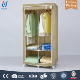 Portable Metal Frame Non-Woven Closet Clothes Storage Organizer Wardrobe