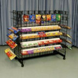 Wire Steel Double Sided Candy Stand Rack for Display (G-1610)