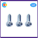 Carbon Steel/4.8/8.8/10.9 Galvanized/Zinc Flower Pan Head Self-Tapping Screw for Furniture/Kitchen/Cabinet