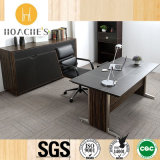 New Design Modern Metal Office Table with Leather (V6)