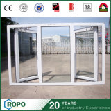 New Design Large Panes Tempered Glass Hinge Room Window
