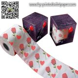 100% Wood Pulp Printed Colored Toilet Paper Tissue Roll