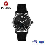 Factory OEM Black Color Wrist Watch for Women