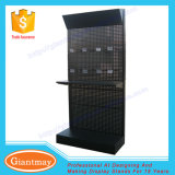 Floor Standing Metal Hardware Tools Display Stand with Shelf