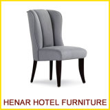 Restaurant Furniture Grey Fabric Wooden Construction Dining Room Chair