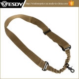 Adjustable Tactical Strap System One Point Bungee Sling Tan