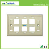 Information Outlet Wall Socket 6 Ports 120 Faceplate