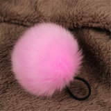 New Design Synthetic Fur Pompom Faux Fur Ball Hairclip